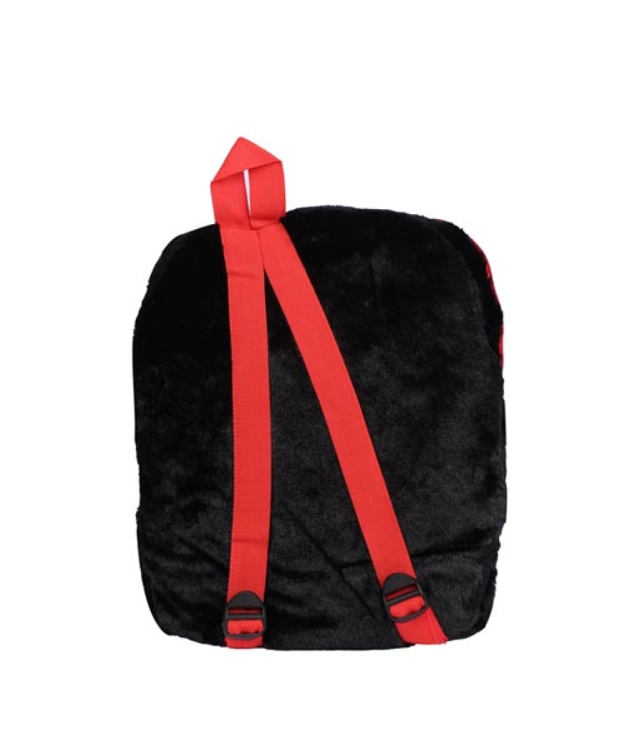 Envie Faux Fur Black  Coloured Zipper Closure Backpack