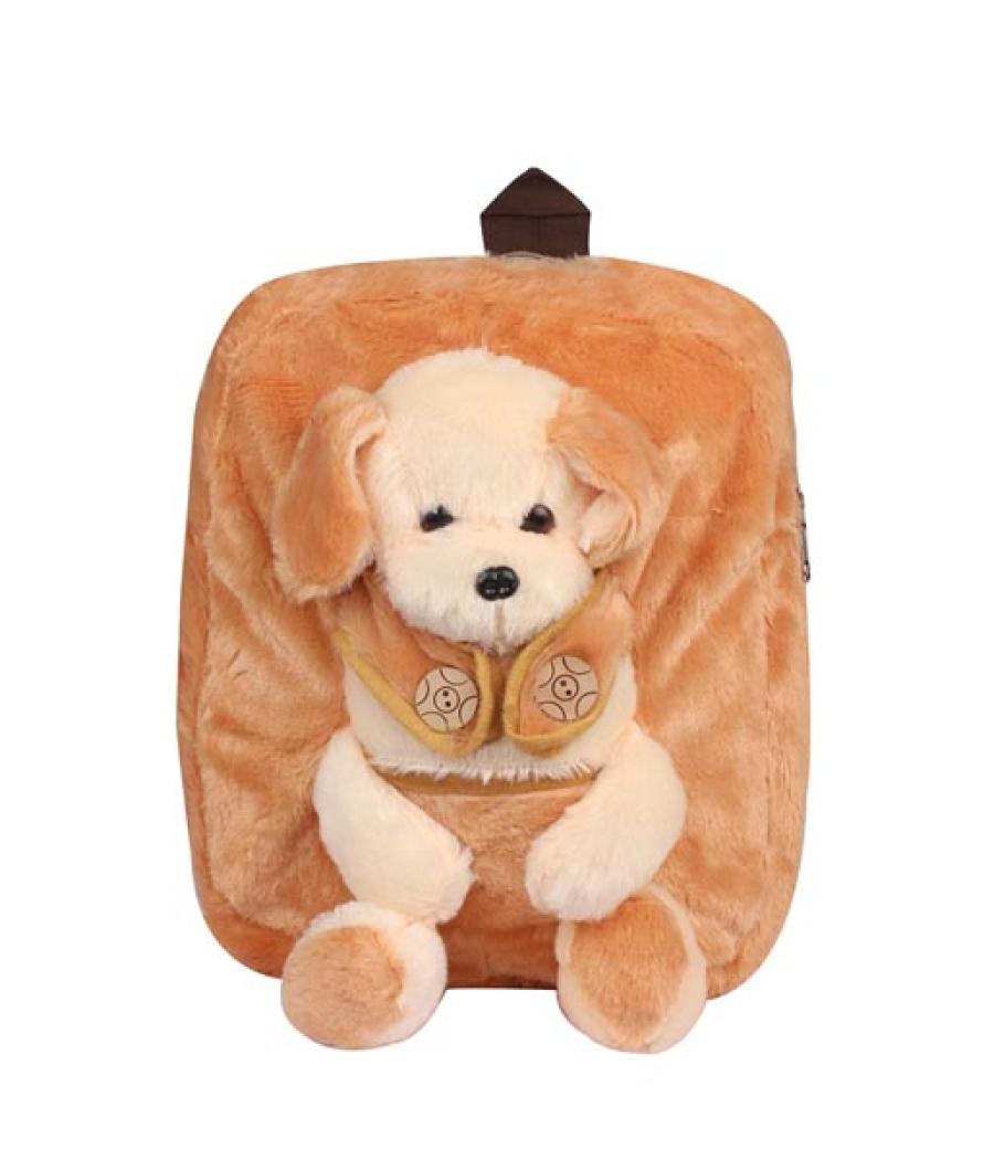 Envie Faux Fur Beige   Coloured Zipper Closure Backpack