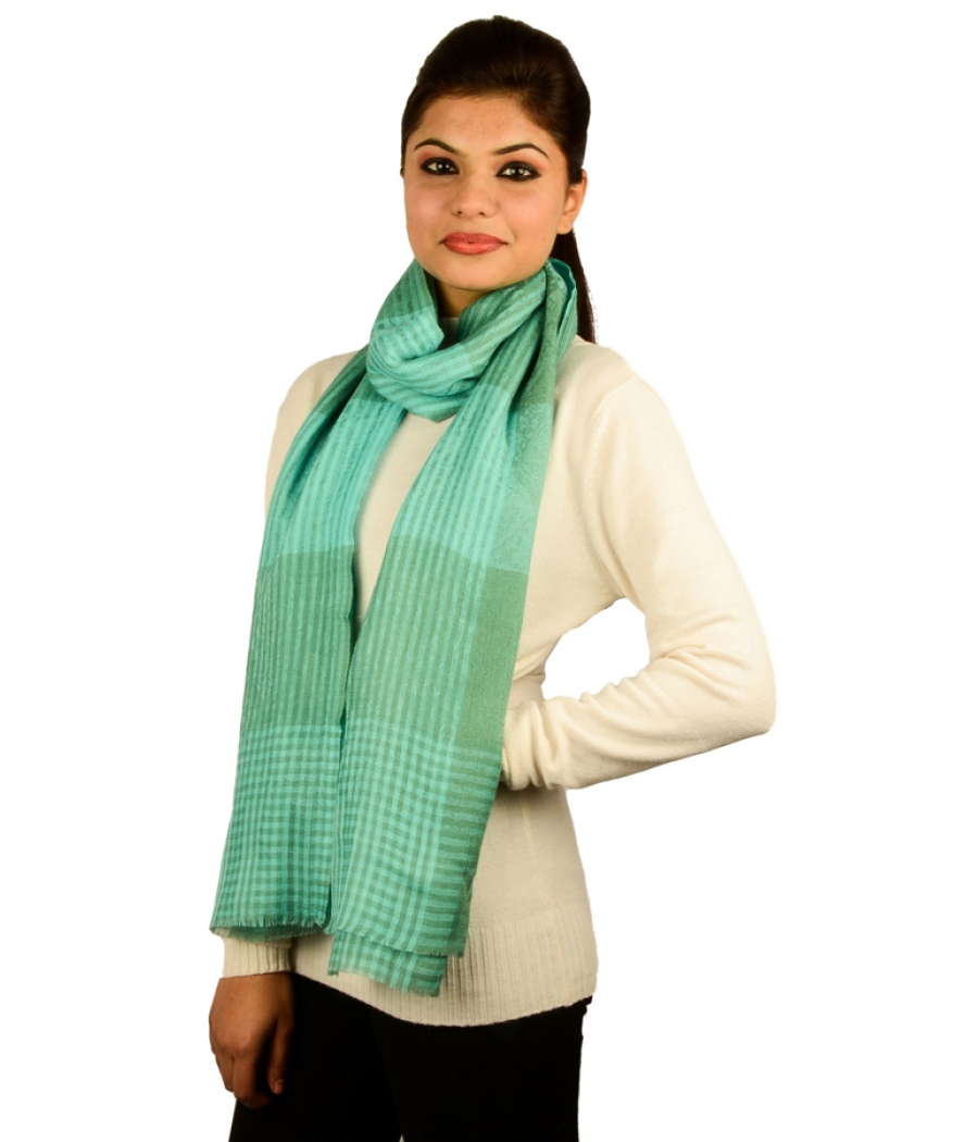 Cyan Green Pashmina Stole