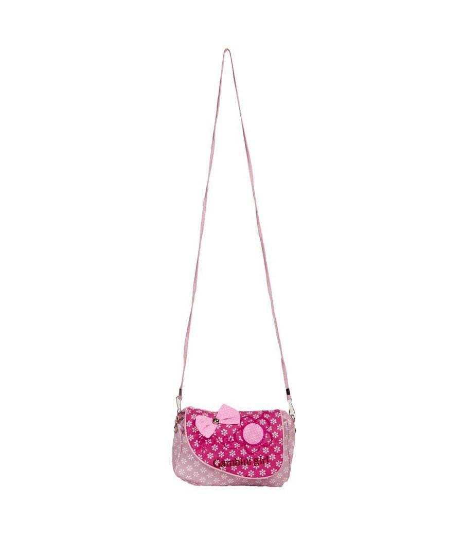Envie  Pink & White Zipper Closure Sling Bag