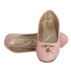 MCS Synthetic Leather Pink Broad Toe Flat Heel Belly Shoes