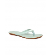 Estatos Sea Green Flat Slippers for Women
