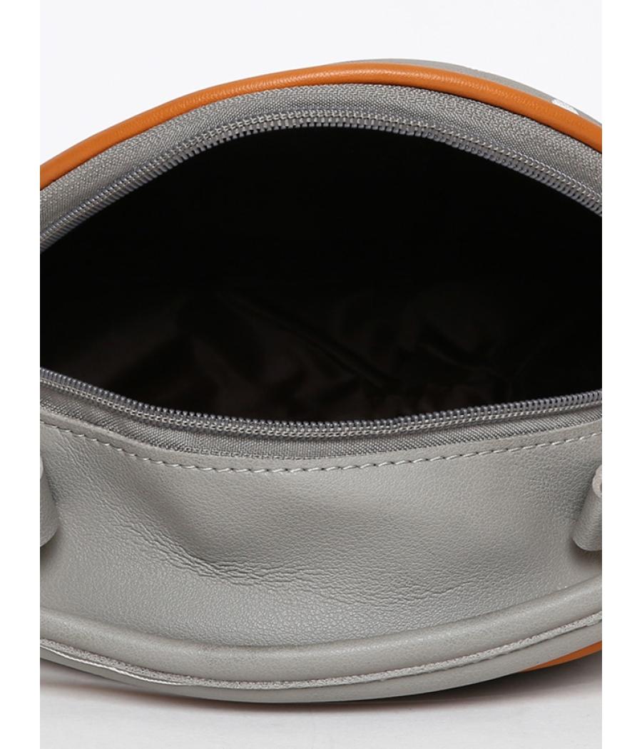 Envie Grey Colour Printed Slingbag for College Girls
