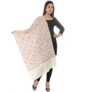 Cream/Multi Embroidered Shawl