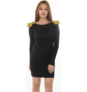 Asos Golden Spike Studs Black Bodycon Dress