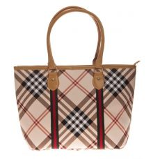 Aliado Cloth/Textile/Fabric Printed Multi & Beige Zipper Closure Tote Bag