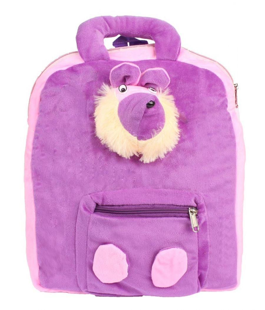 Envie Faux Fur Purple   Coloured Zipper Closure Backpack