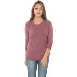 Zara Trafaluc Maroon/Grey Rose Patterned Top
