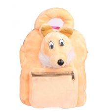 Envie Faux Fur Beige    Coloured Zipper  Closure Backpack