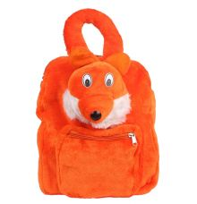 Envie Faux Fur   Orange  Coloured   Zipper Closure Backpack