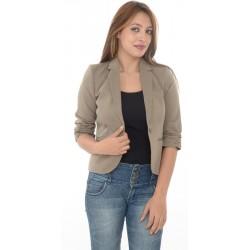 Top Shop Grey/ Light Brown Short Sleeves Blazer