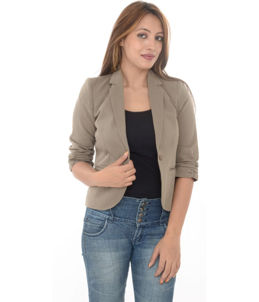 Top Shop Grey/ Light Brown Short Sleeves Blazer