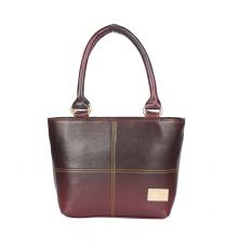 Aliado Faux Leather  Magenta Zipper Closure Formal Handbag