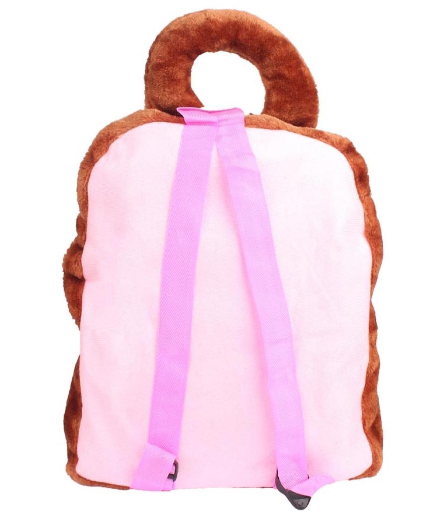 Envie Faux Fur Coffee Brown  Coloured Zipper Closure Backpack
