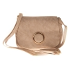 Envie Faux Leather Printed Cream Coloured Magnetic Snap Crossbody Bag