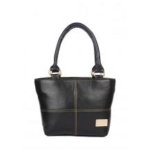 Aliado Faux Leather Black  Zipper Closure Handbag