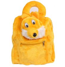Envie Faux Fur  Yellow   Coloured Zipper   Closure Backpack