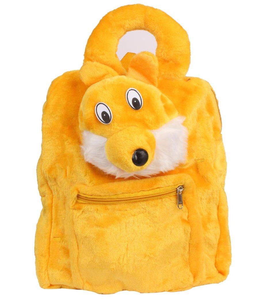 Envie Faux Fur  Yellow   Coloured Zipper   Closure Backpack