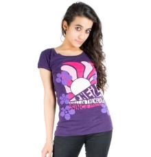 O Neill Purple Printed T-shirt