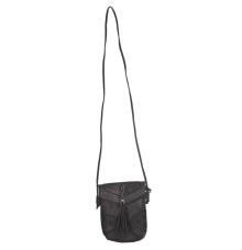 Envie Faux Leather Black Magnetic Snap Crossbody Bag for Women