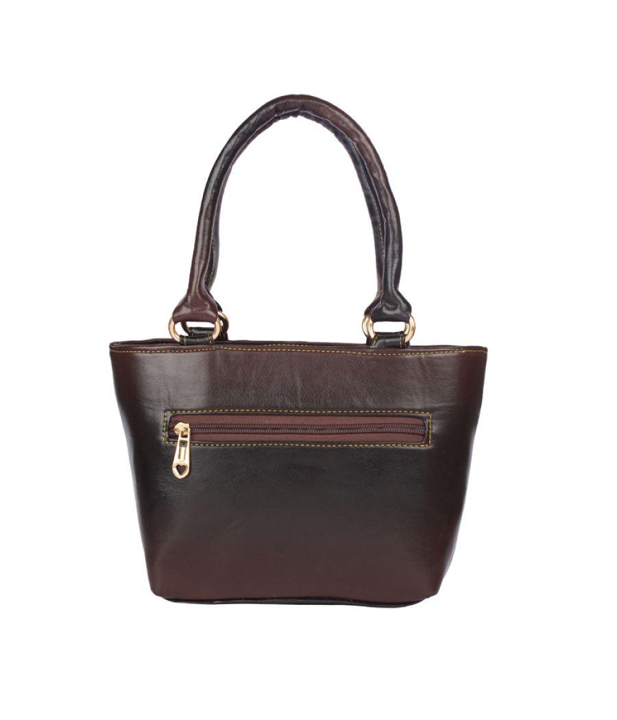 Aliado Faux Leather Brown Coloured  Zipper Closure Bag