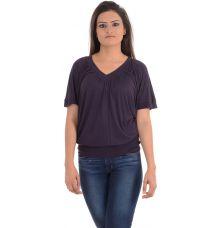 MNG Basics Viscose Solid Purple Coloured Top