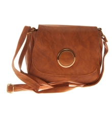 Envie Faux Leather Printed Brown Magnetic Snap Sling Bag