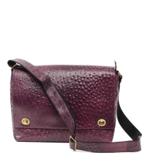Croc Pattern PU Messenger Bag