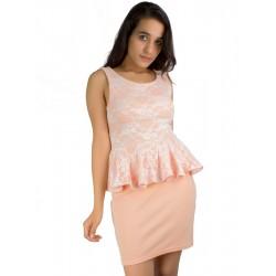Boohoo Peach Peplum Dress