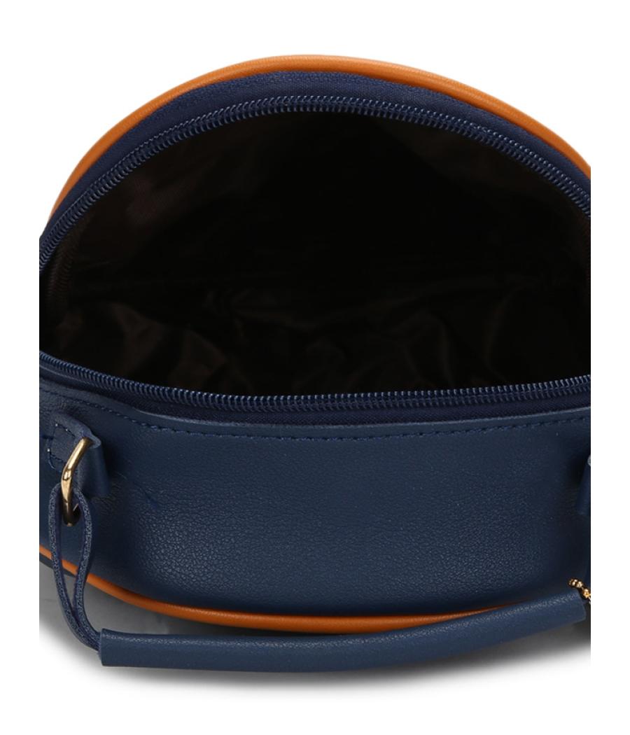 Envie Navy Blue Colour Printed Slingbag for College Girls