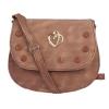 Envie Faux Leather Coffee Brown Embellished Coffee Brown Sling Bag
