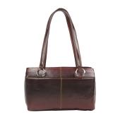 Aliado Faux Leather Solid Brown & Coffee Brown Zipper Closure  Handbag